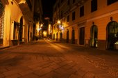 Alghero old town by night
