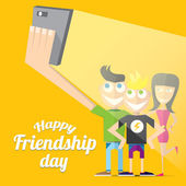 Happy friendship day vector background