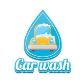 Vector Car wash icons set isolated on white vector car wash sticker collection vector car wash logo template washing car label