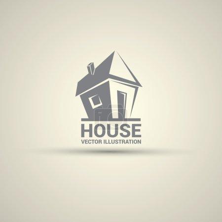 Illustration pour Modèle de conception maison abstraite immobilier campagne logo. - image libre de droit