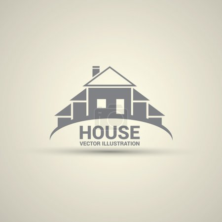 Illustration for House abstract real estate countryside logo design template. - Royalty Free Image