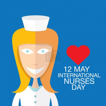 International nurse day concept with nurse