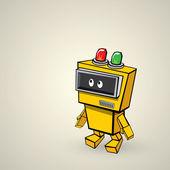 orange Cartoon doodle Robot