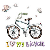 I love my bicycle concept design Hand drawn