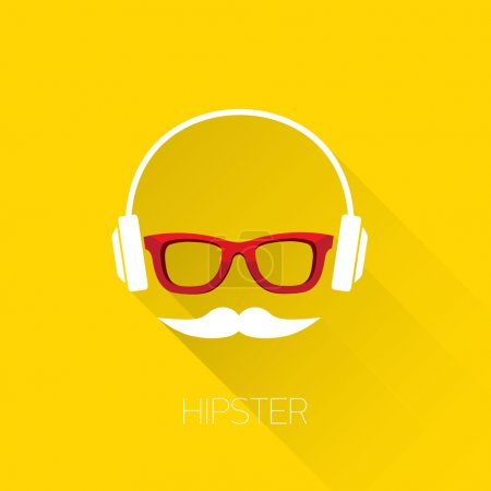 hipster man icon. Fashion silhouette hipster style