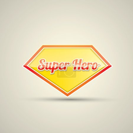 Super hero label or sign.