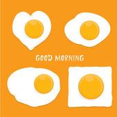 Fried Egg vector  good morning concept