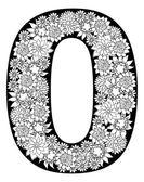 floral number 0 font