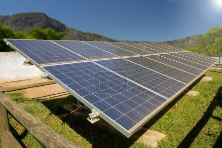 A photo voltaic solar power installation in a rura...