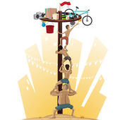 Panjat Pinang Pole Climbing Indonesian Independence Day Tradition Offers Prizes For Those Who Scale Slippery Pole