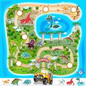 Various Exotic Dinosaurs Location from Prehisoric Zoo Map File is Eps10 (contain transparency)