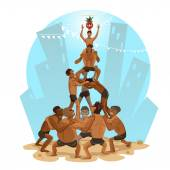 Janmashtami Dahi Handi Illustration