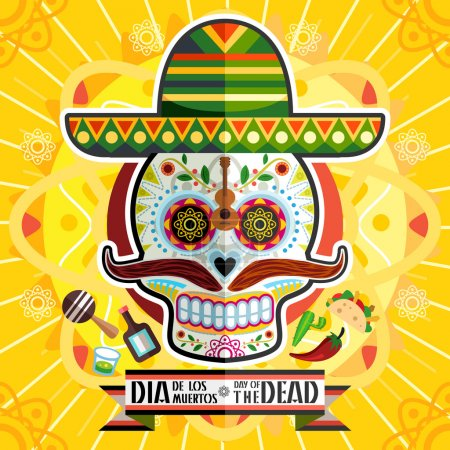 Dia De Los Muertos Day Of The Dead Skull