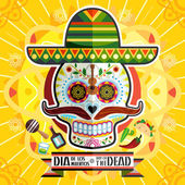 Illustration Of Mexican Dia De Los Muertos Day Of The Dead Skull Poster Art