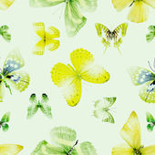 butterfly seamless 04 green