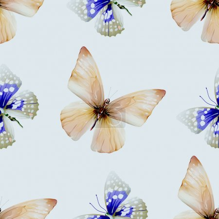 butterfly watercolor seamless 00