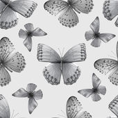 Seamless pattern with butterflies vector illustration clip-art