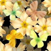gold flowers seamless 01
