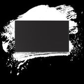 Brushstroke and paper on a black background illustration clip-art