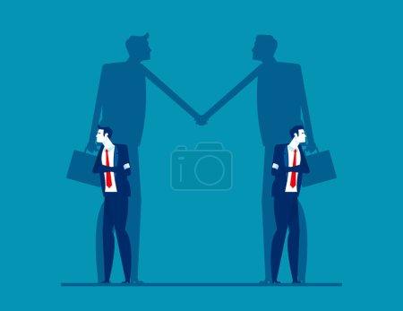 Illustration pour Conflits d'affaires mais aussi coopérer entre eux - image libre de droit