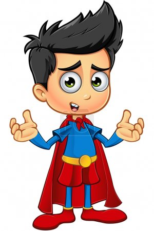 Illustration for A cartoon illustration of a cute Superhero Boy character. - Royalty Free Image