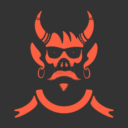 Illustration for Vector Symbol Skull With Horns eps 8 file format - Royalty Free Image