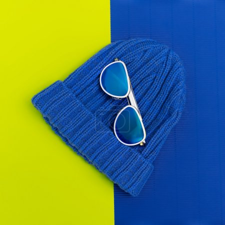 Fashion sunglasses and hat. Urban Style Accessories