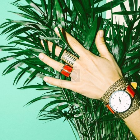 Love Summer. Love Red. Stylish Red Jewelry. Fashion Style Ladies