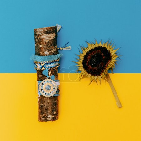 Feel the Summer. Sunflower. Country boho style. Fashion bracelet