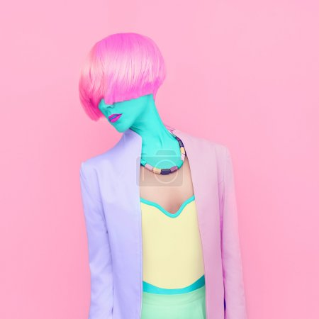 Photo for Exclusive photos. Girl fashion mix colors - Royalty Free Image