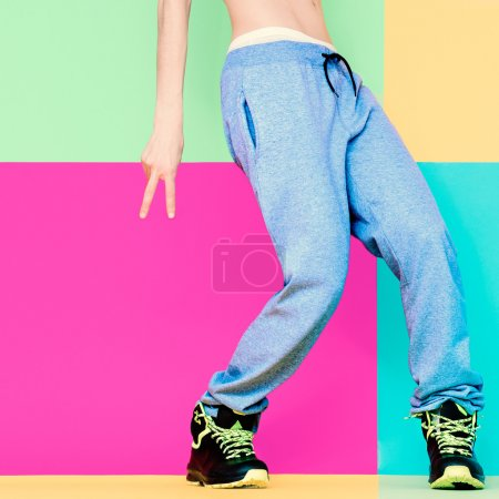 Dancer's feet on bright background. Dancing, Active, Sport, Fash