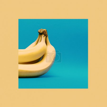 Des bananes. Style minimal. design de mode