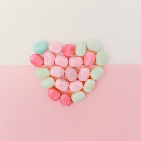 Sweet heart candy. minimal style