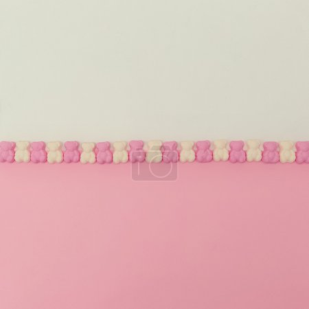Photo for Sweet Candy Bears. Minimalism style. Pastel color trend - Royalty Free Image