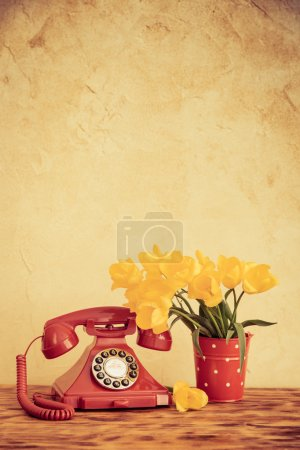 Photo for Bouquet of flowers against grunge background. Spring holiday concept. Women's day - Royalty Free Image