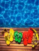 Letní dovolená koncept