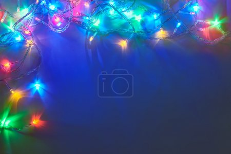 Photo for Decorative Christmas lights  garland - Royalty Free Image