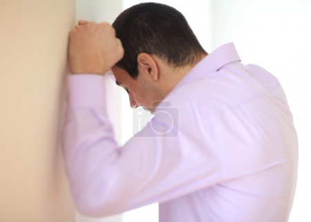 Photo for Stressed despair businessman,close up - Royalty Free Image