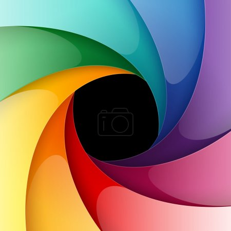 Illustration for Swirly colorful paper background. Vector illustration - Royalty Free Image