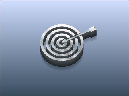 3d illustration of aim icon