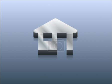 Photo for 3d illustration of houme icon - Royalty Free Image