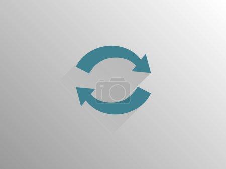 Photo pour Icône longue ombre plate de cyclique - image libre de droit