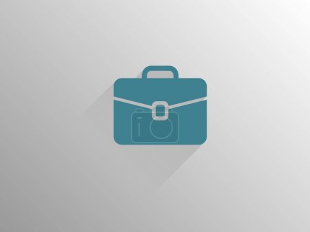 Photo for Flat long shadow icon of briefcase - Royalty Free Image
