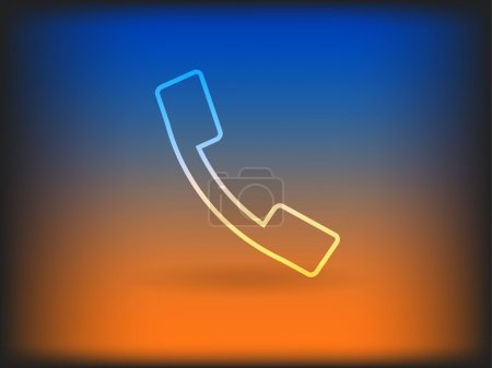 Photo pour Icône plate d'un téléphone - image libre de droit