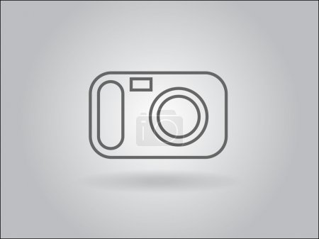 Photo pour Icône plate d'une caméra - image libre de droit