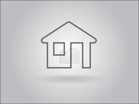 Photo for Flat icon of home - Royalty Free Image