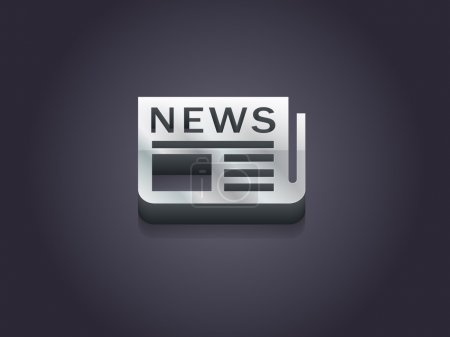 Illustration pour Icône plate de news, symbole de la conception - image libre de droit