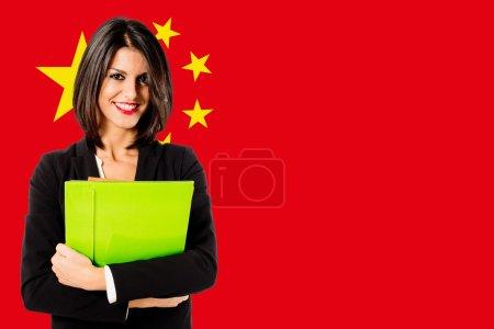Photo pour China business développement jeune exécutive femme - image libre de droit