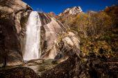 alpine waterfall Valtellina Italy