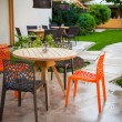 Table and chairs in the garden, Kharkov, Ukraine...
